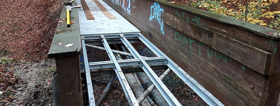 Sanierung Brücke Wald
